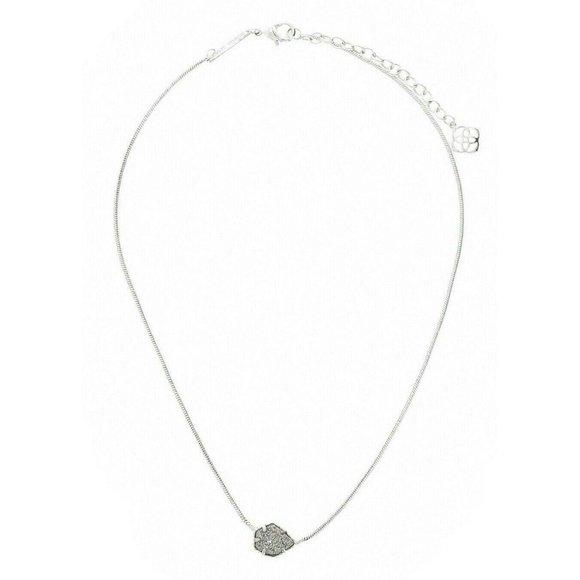 Kendra Scott Platinum Drusy Silver Mara Necklace